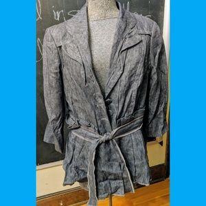 Unique tie-front blazer